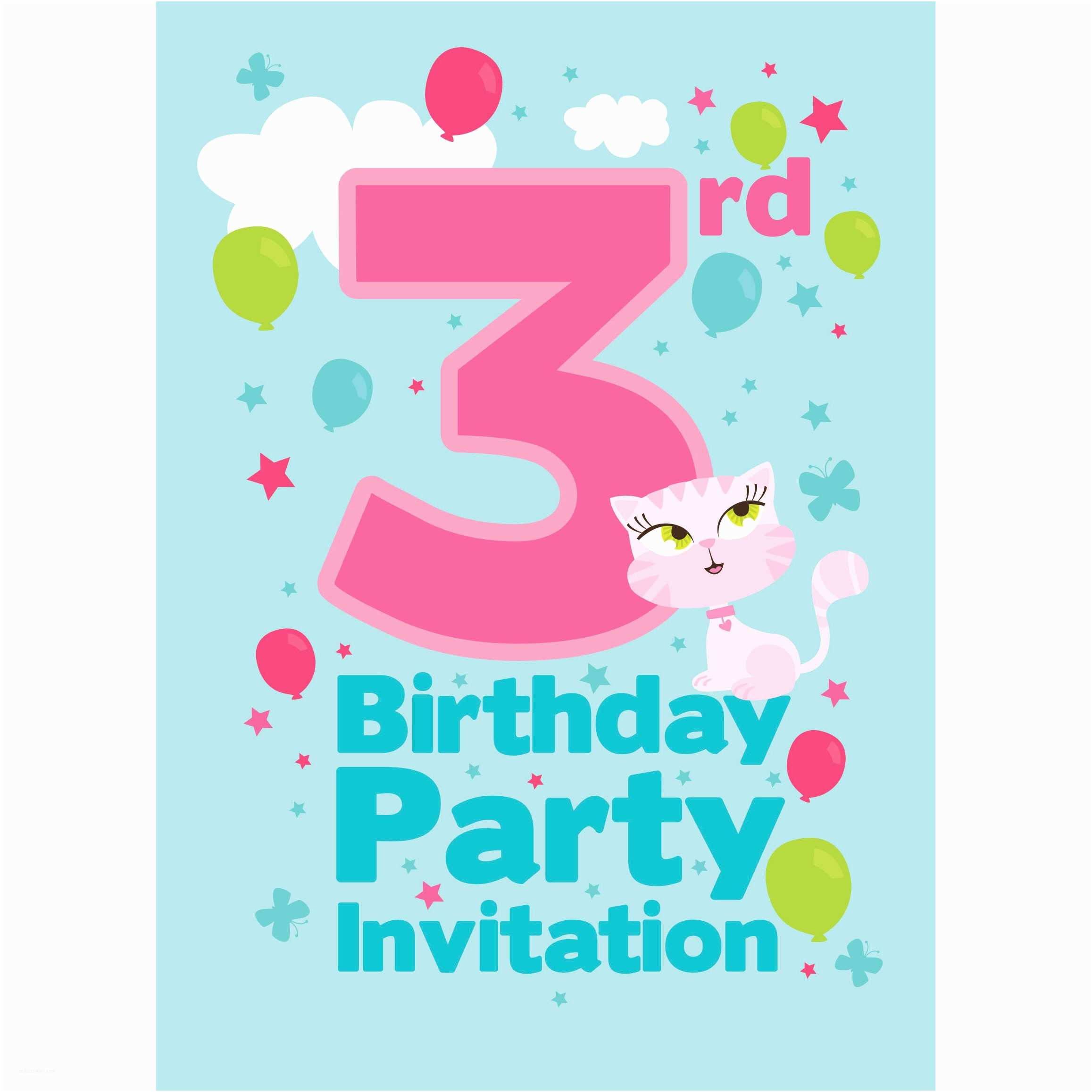 3rd Birthday Invitations 3rd Birthday Party Supplies