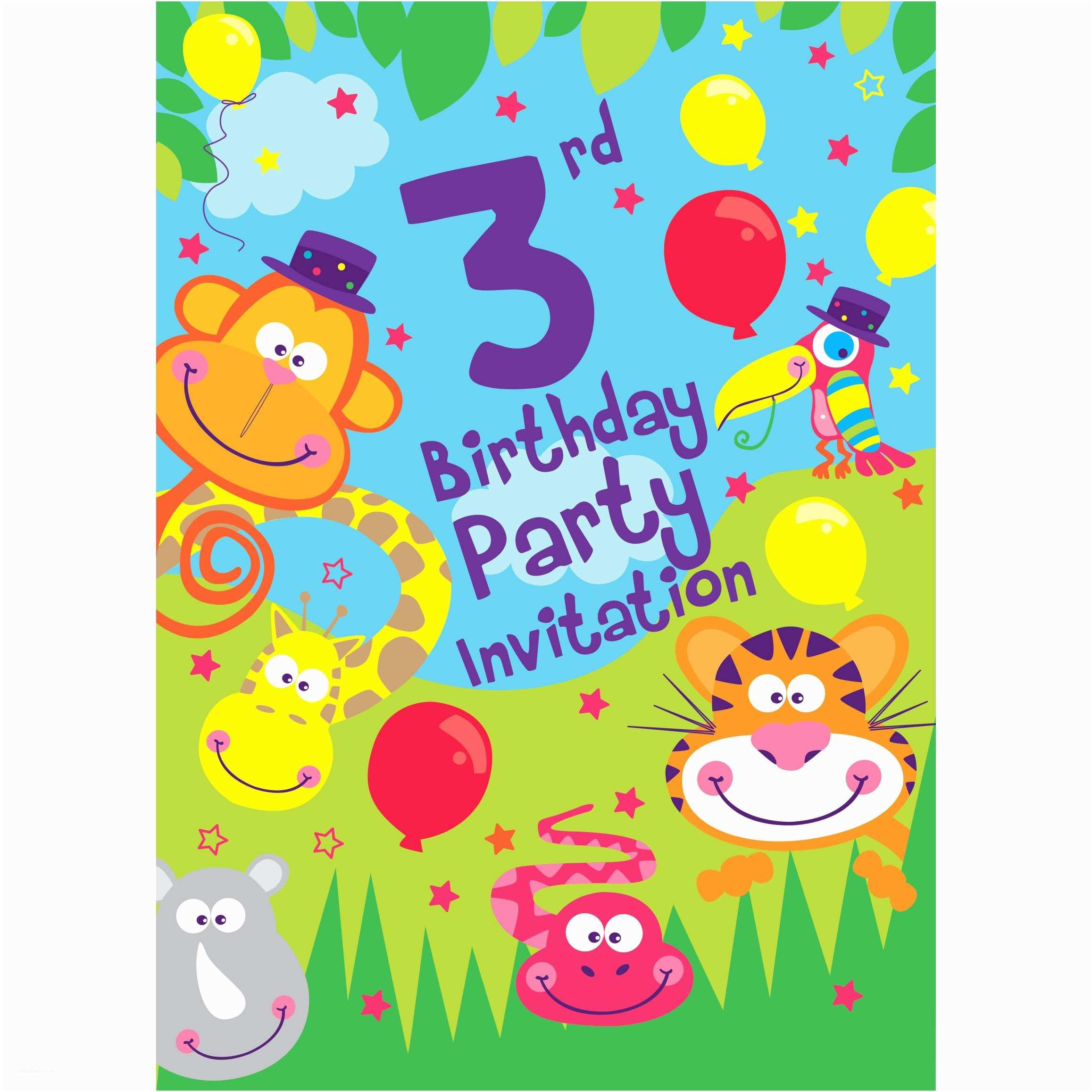 3rd Birthday Invitations 3rd Birthday Party Supplies