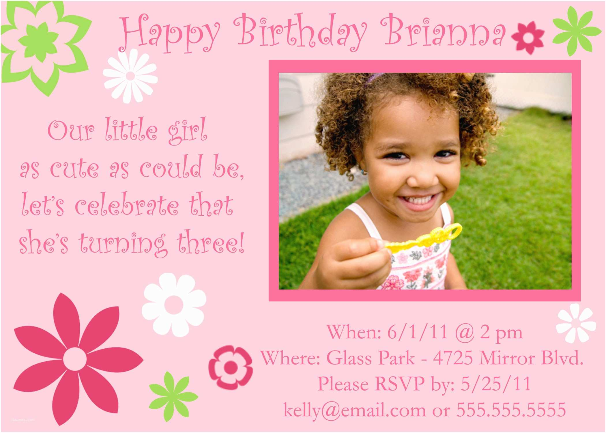 3rd Birthday Invitations Birthday Invitation Templates 3rd Birthday Invitation