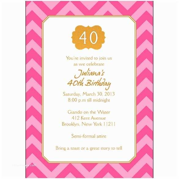 40th Birthday Invitation Wording Gangcraft