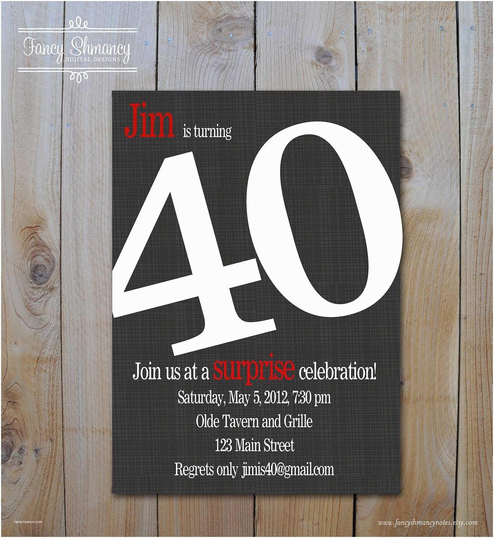 40th Birthday Invitation 9 Best Of Men Invitations Printable