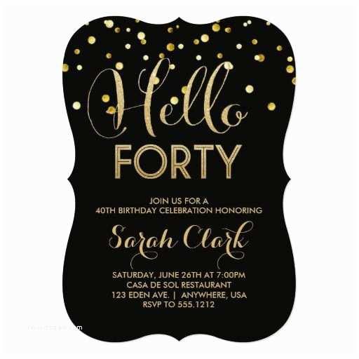 40th Birthday Invitation Birthday Gifts Ideas 40th Birthday Party Invitation