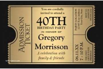 40th Birthday Invitations 25 Invitation Templates