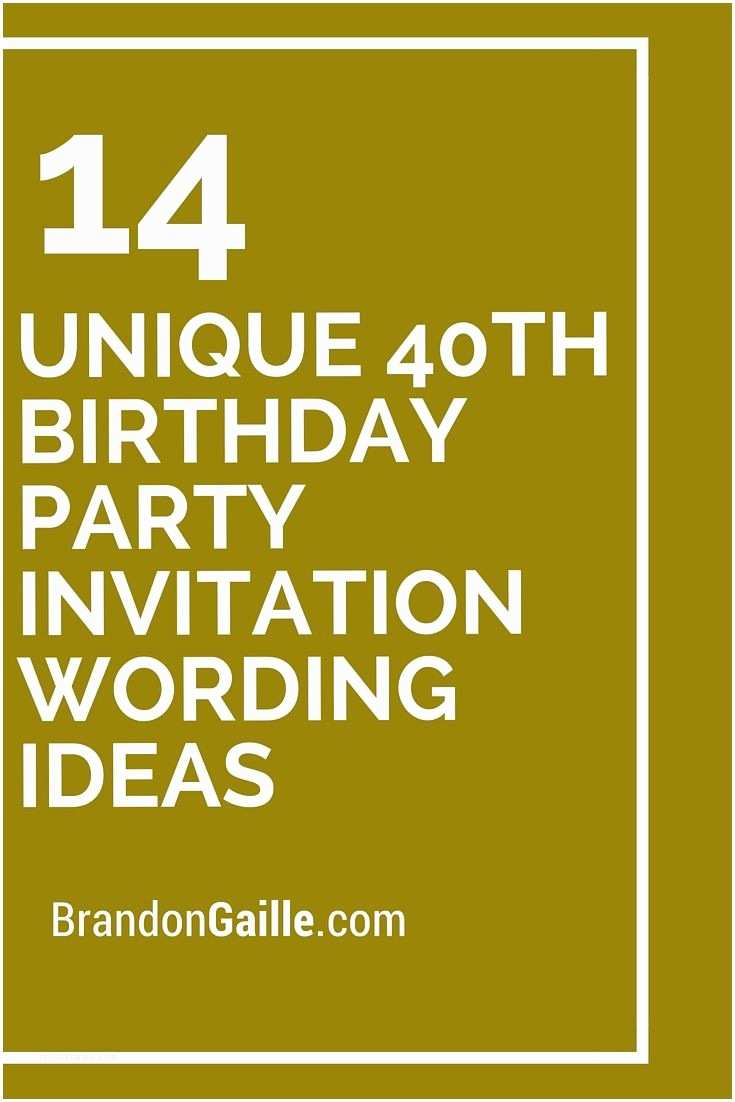 40th Birthday Invitations For Her 14 Unique Party Invitation Wording Ideas
