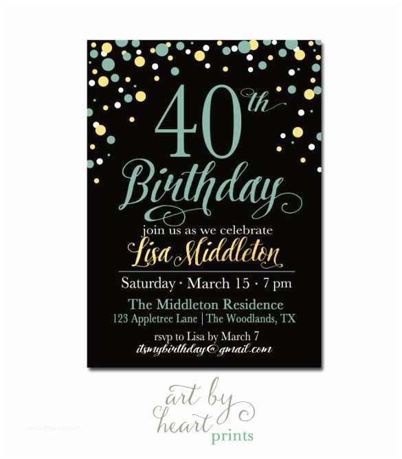 40th Birthday Invitations for Him 24 40th Birthday Invitation Templates – Psd Ai