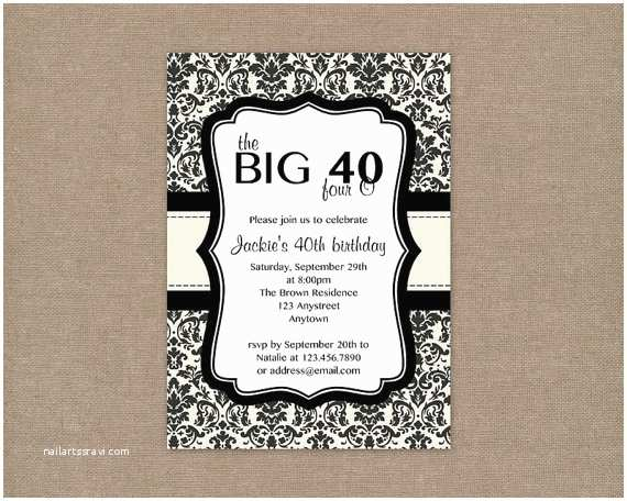 40th Birthday Invitations for Him 9 Best Of Men 40th Birthday Invitations Printable