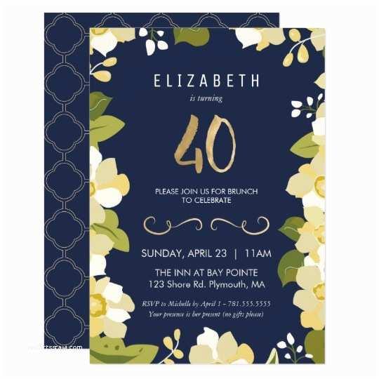 40th Birthday Party Invitations 40th Birthday Invitations & Announcements
