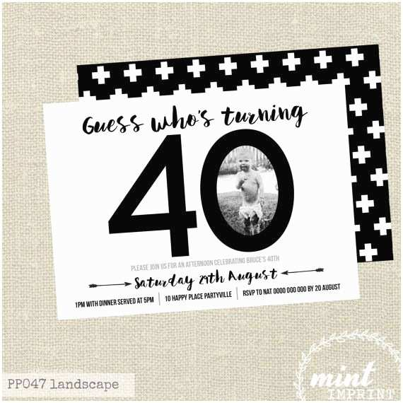 40th Birthday Party Invitations Best 25 40th Birthday Invitations Ideas On Pinterest