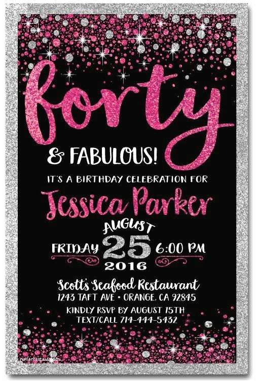 40th Birthday Party Invitations Best 25 Ideas On Pinterest