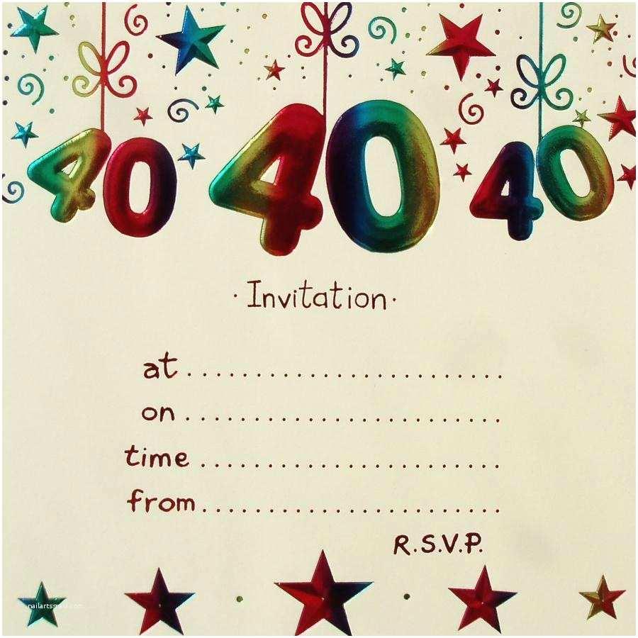 40th Birthday Party Invitations Surprise Invitation Free Template