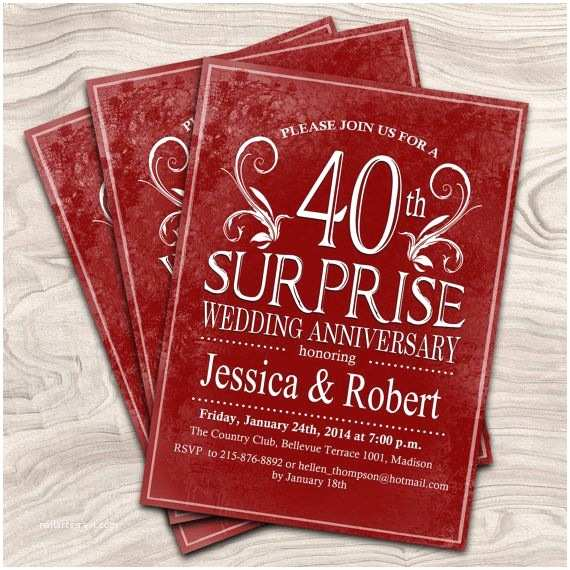 40th Ruby Wedding Anniversary Invitations 1000 Ideas About 40th Anniversary Gifts On Pinterest