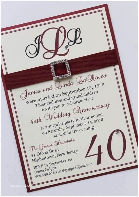 40th Ruby Wedding Anniversary Invitations 1000 Images About Braunniversary On Pinterest