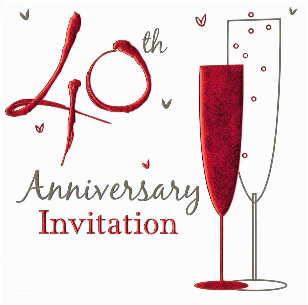 40th Wedding Anniversary Invitations 36 X Ruby Wedding Anniversary Invitation Cards 40th