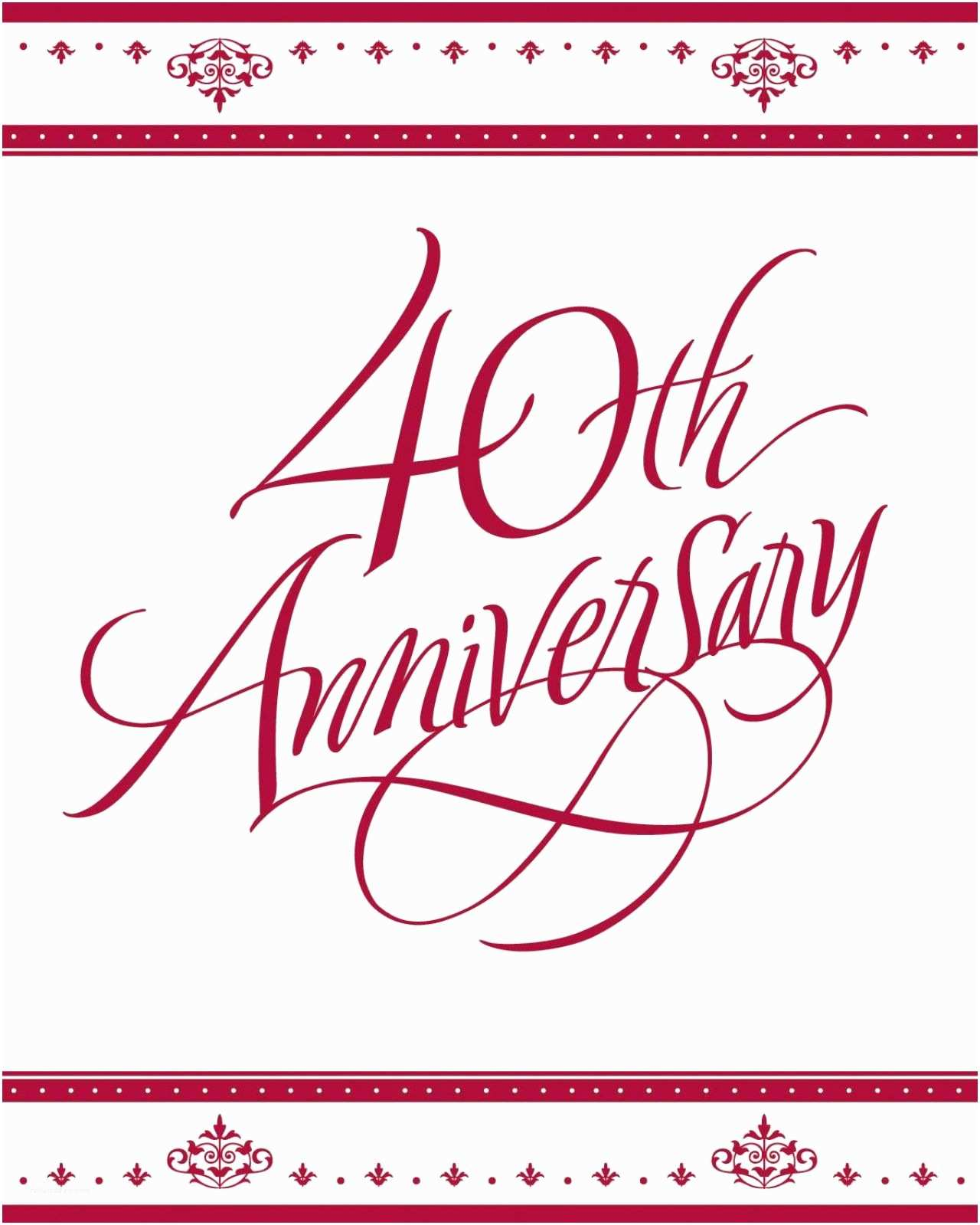 40th Wedding Anniversary Invitations 40th Anniversary Invites 40th Anniversary Invitations Uk