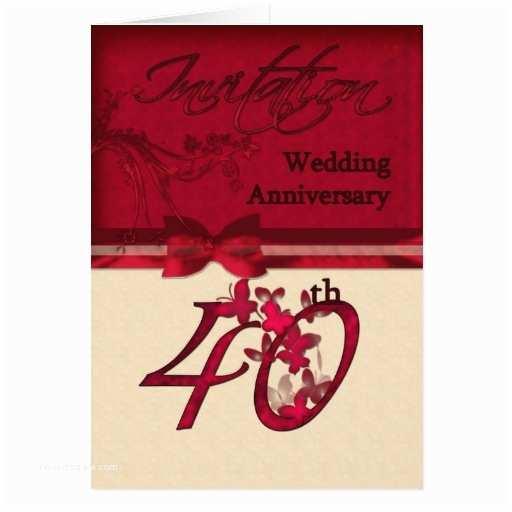 40th Wedding Anniversary Invitations 40th Wedding Anniversary Invitation
