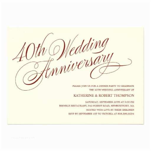 40th Wedding Anniversary Invitations 40th Wedding Anniversary Invitations