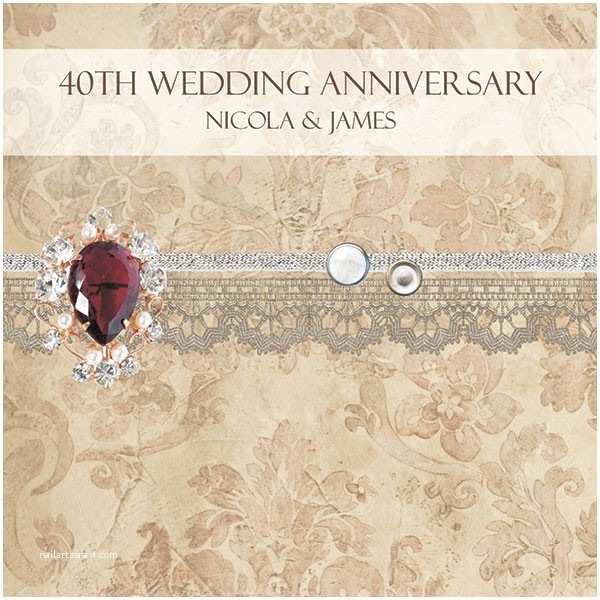 40th Wedding Anniversary Invitations 40th Wedding Anniversary Invitations Vintage