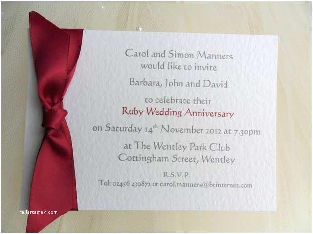 40th Wedding Anniversary  60p Each 40th Ruby Wedding Anniversary