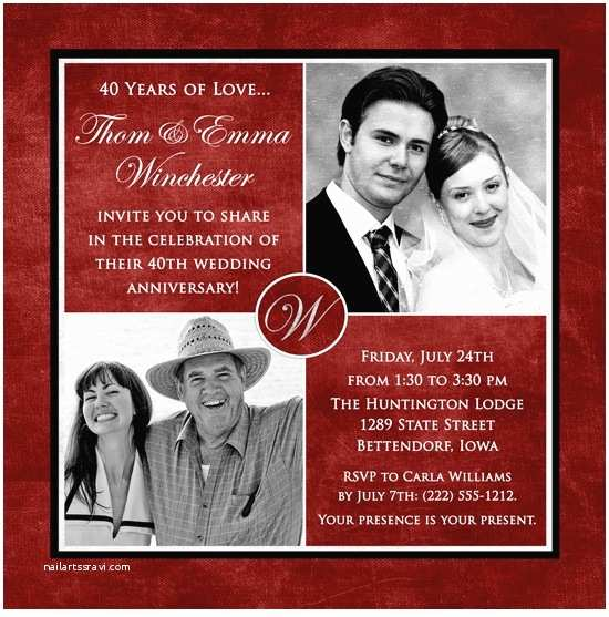 40th Wedding Anniversary  Latset Happy 40th Wedding Anniversary Party