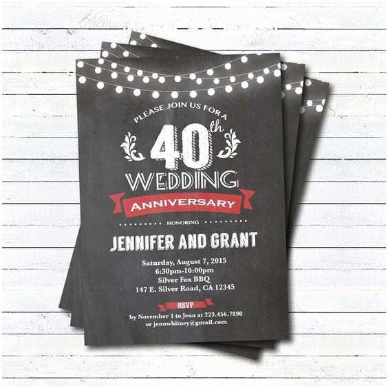 40th Wedding Anniversary Invitations Pinterest • The World's Catalog Of