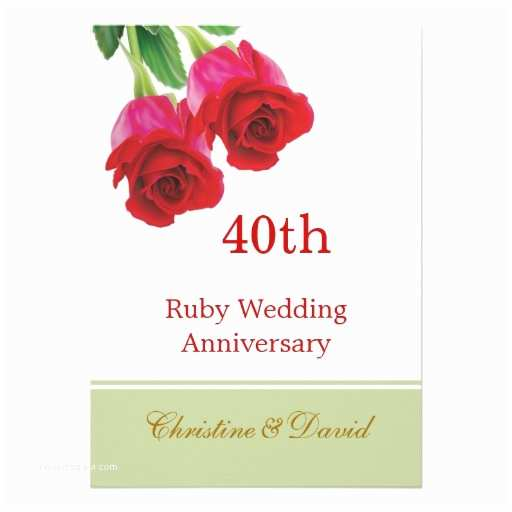40th Wedding Anniversary S Red Roses 40th Ruby Wedding Anniversary