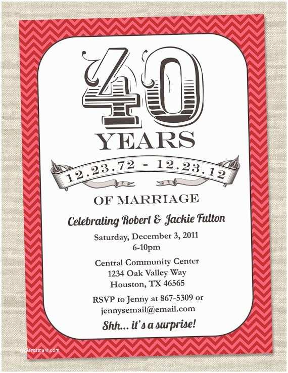 40th Wedding  Invitations Wedding Invitation Wording 40th Wedding