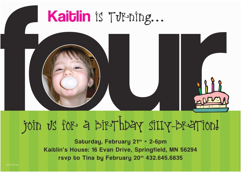4th Birthday Invitation Wording 4th Birthday Party Invitation Wording