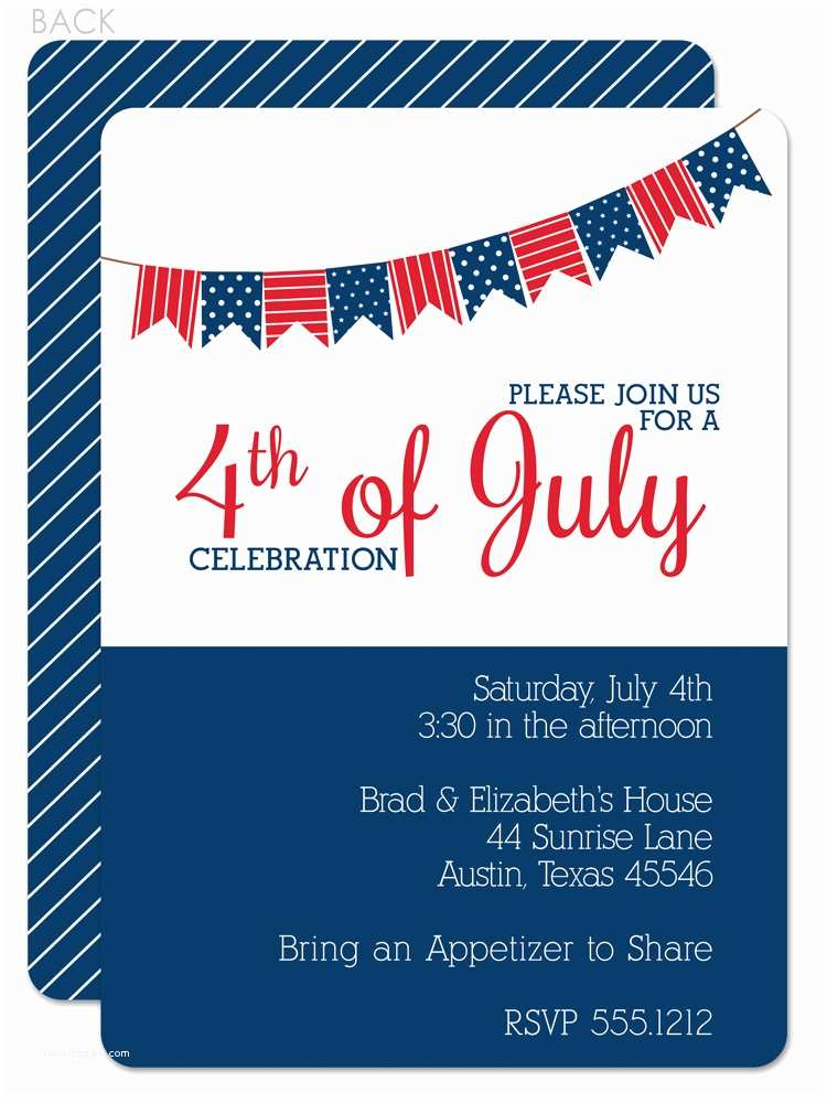 4th Of July Party Invitations 4th July Party Invitations
