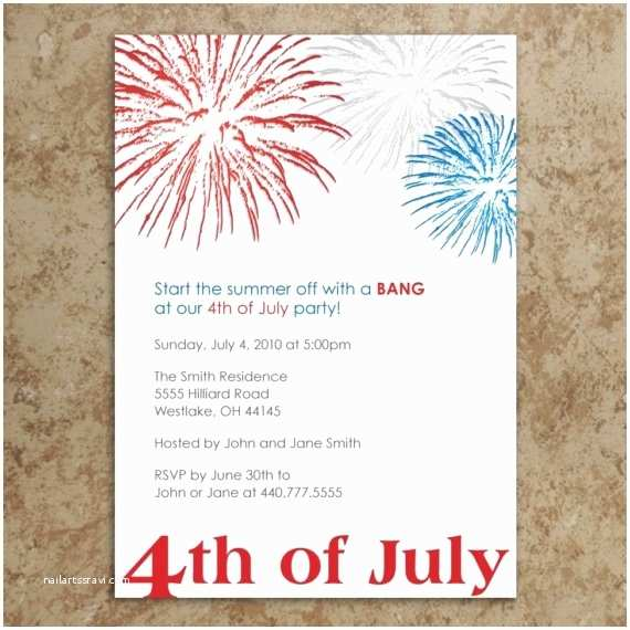4th Of July Party Invitations 4th Of July Invitation Let Freedom Ring
