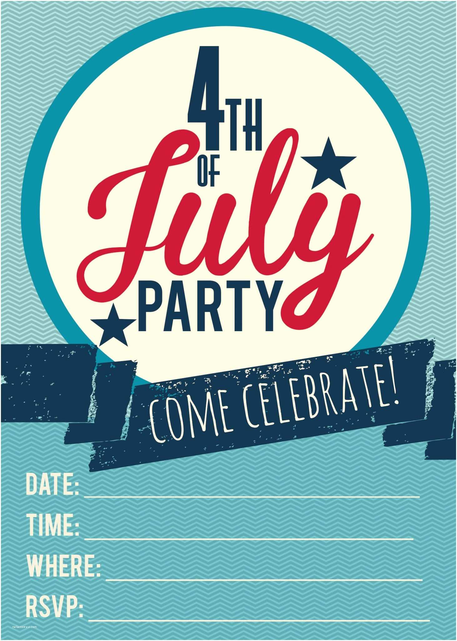 4th Of July Party Invitations 4th Of July Printable Invitations