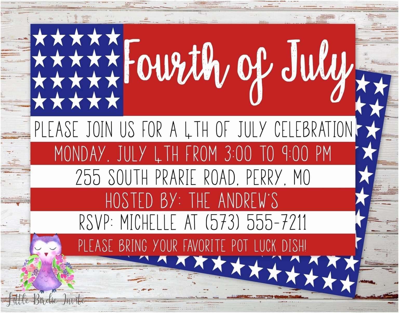 4th of july party invitations 4th july birthday party invitations