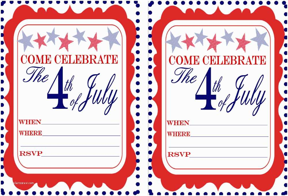 4th Of July Party Invitations Free July 4th Party Printables From 9 to 5 Mom