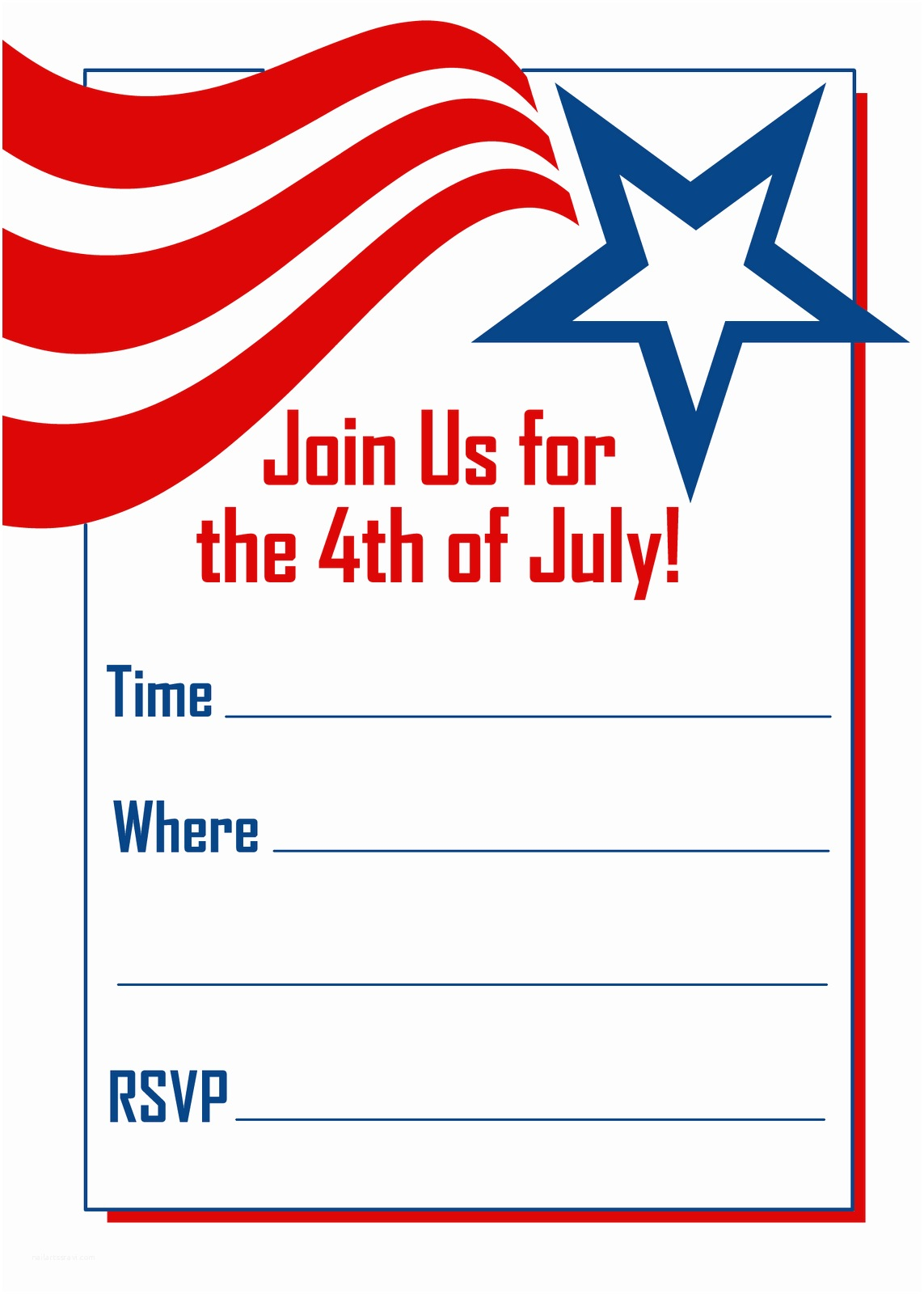 4th Of July Party Invitations Free Printable Party Invitations May 2010