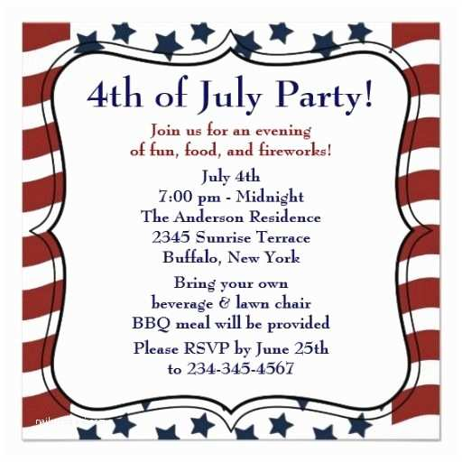 4th Of July Party Invitations Here You Will Template Sample Of 4th Of July