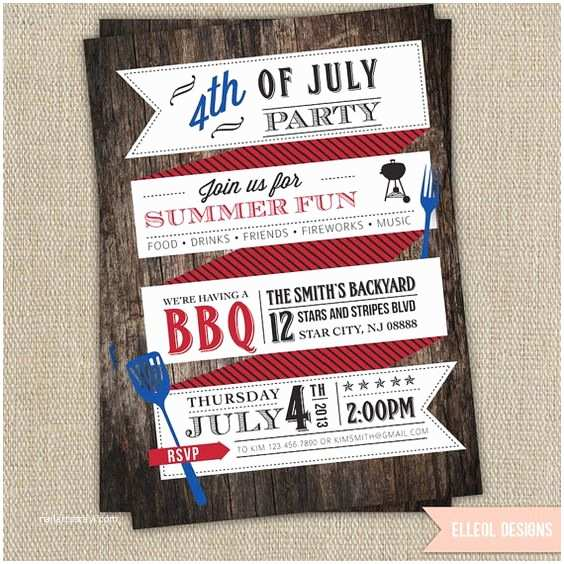 4th Of July Party Invitations Party Invitations 4th Of July Party and Invitations On