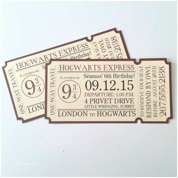 4x8 Wedding Invitations 4x8 Hogwarts Express Train Ticket Invitation by