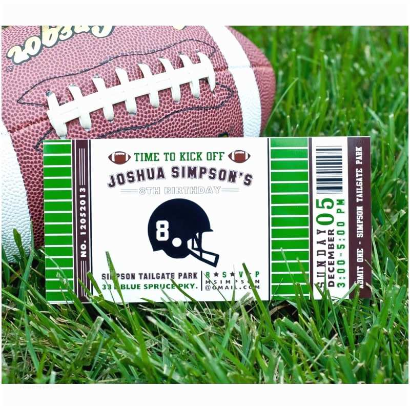 4x8 Wedding Invitations Football Ticket 4x8 Birthday Party Printable Invitation