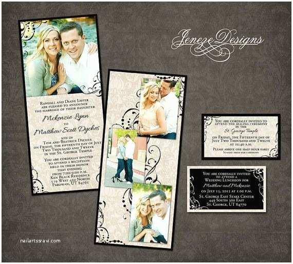 4x8 Wedding Invitations Wedding Invitation Template Graphers and Shop