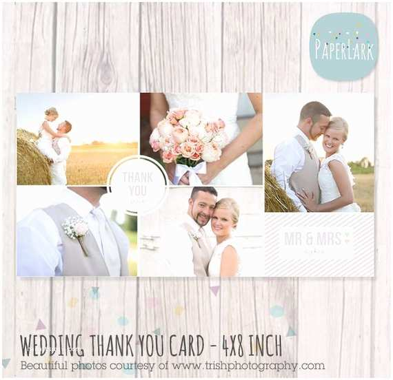 4x8 Wedding Invitations Wedding Thank You Card 4x8 Inch Shop Template Aw013