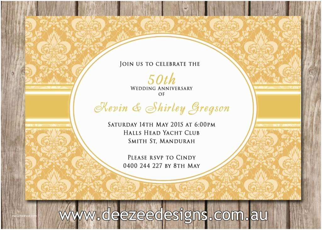 50 Wedding Anniversary Invitations 50th Wedding Anniversary Invitations