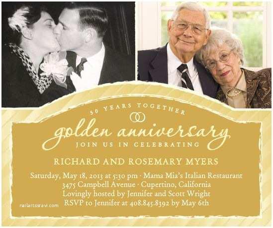 50 Wedding Anniversary Invitations Best 25 50th Anniversary Invitations Ideas On Pinterest