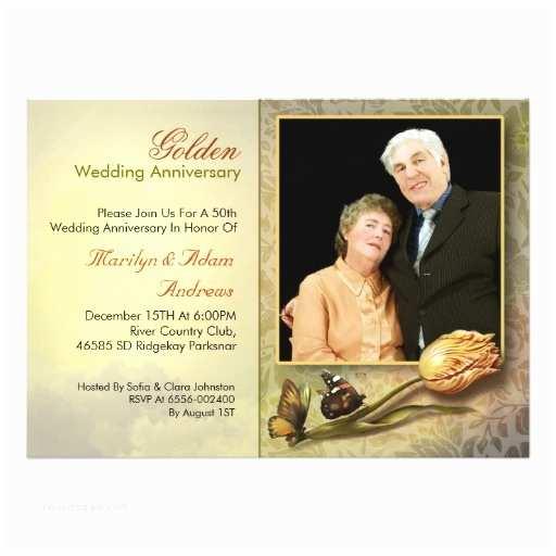 50 Wedding Anniversary Invitations Fancy Vintage 50th Wedding Anniversary Invitation Card