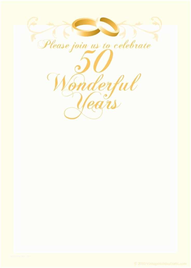 50 Wedding Anniversary Invitations Wedding Anniversary