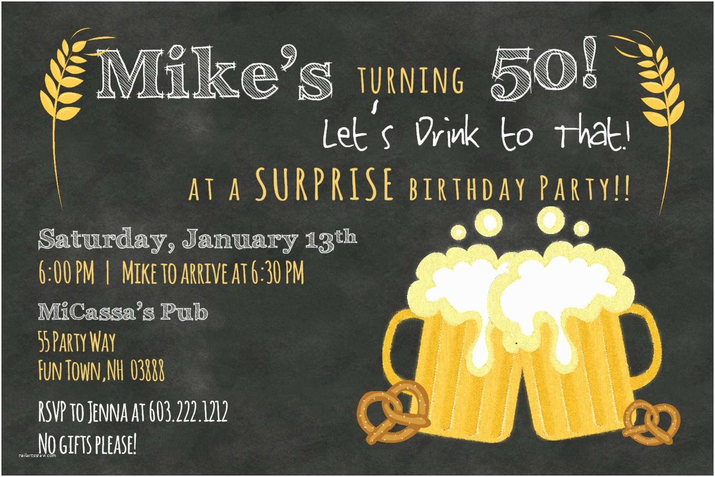 50th Anniversary Party Invitations Men Birthday