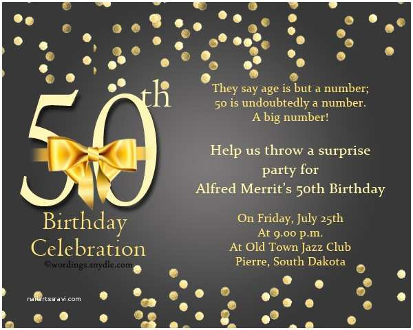 50th Anniversary Party Invitations 50th Birthday Invitation Wording Samples Wordings and