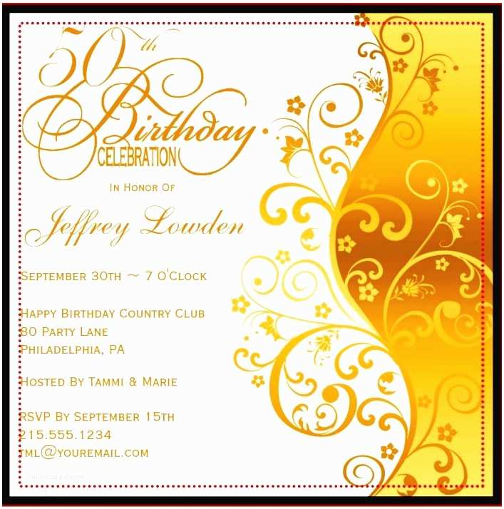 50th Birthday Invitation 50th Birthday Invitation Templates A Birthday Cake