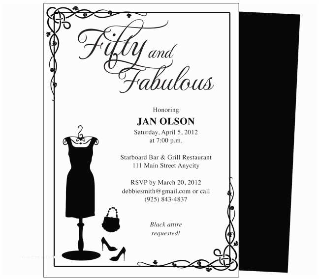 50th Birthday Invitation Template 34 Best Images About Birthday Invitation Templates for Any