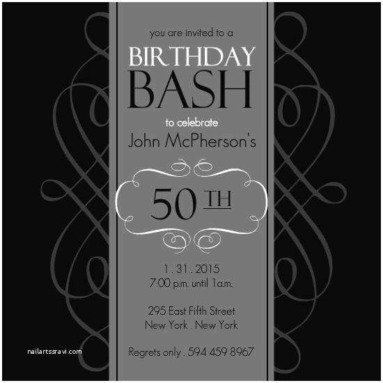 50th Birthday Invitation Template 50th Birthday Invitation Templates A Birthday Cake