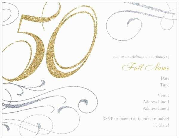 50th Birthday Invitation Template 50th Birthday Invitations for Women