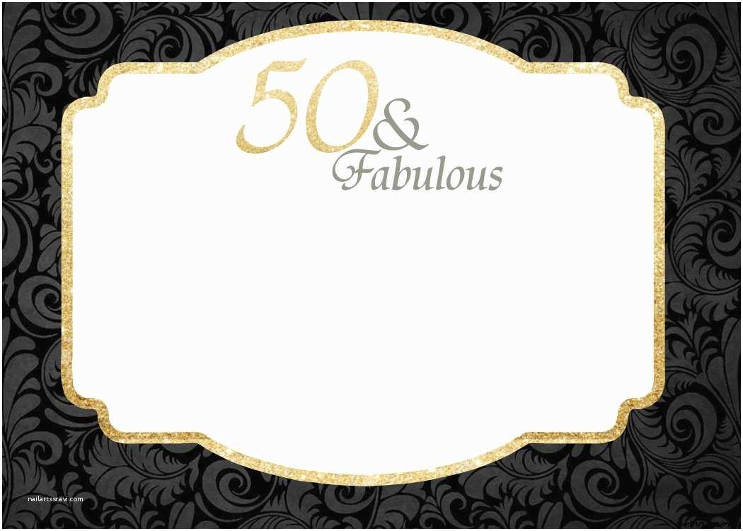 50th Birthday Invitation Template Free Printable 50th Birthday Invitations Template